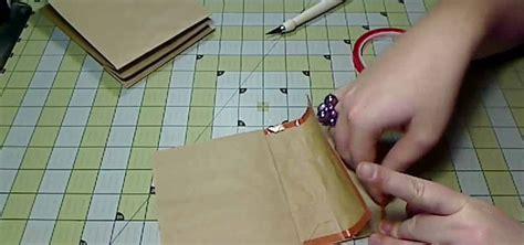 How To Make A Paper Album - how to craft a kraft paper bag album for scrapbooking