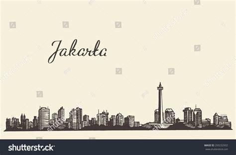 indonesia detailed skyline vector illustration stock jakarta skyline vintage engraved illustration hand stock