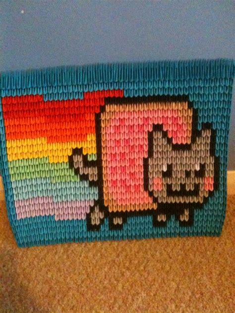 3d Origami Cat - 3d origami nyan cat by louismandeller on deviantart