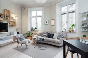 Small living room decorating idea in scandinavian style design