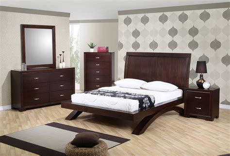 raven bedroom set dark cherry finish rvqb decor south