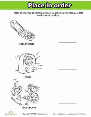 history of communication worksheet education com