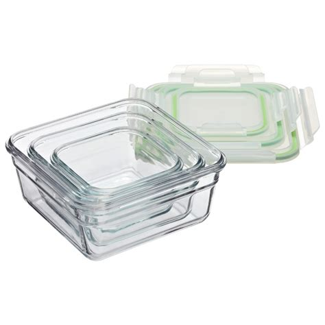 glassware storage containers glasslock square food containers with lids the container
