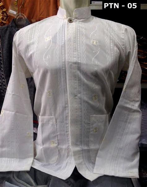 Koko Dannis Lengan Panjang Putih 1 baju koko putih lengan panjang busanamuslimpria