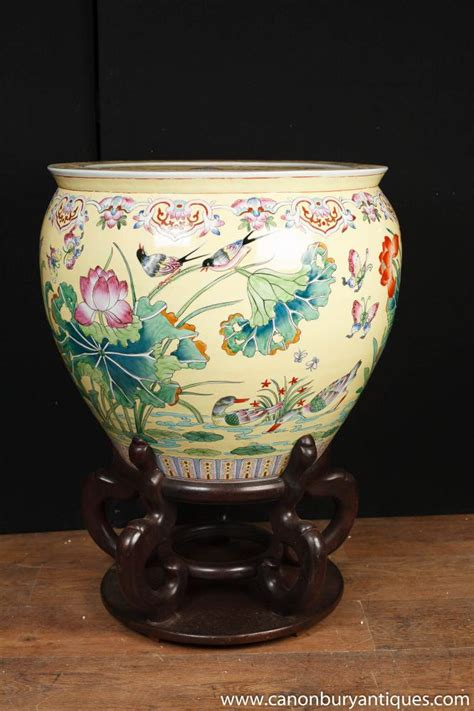 Large Porcelain Planters by Large Porcelain Famille Planter Bowl Urn