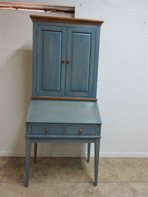 ethan allen secretary desk ethan allen country colors denim blue secretary ladies