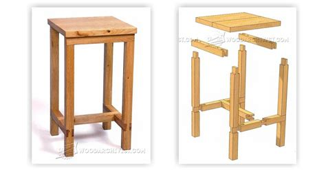 8 Drawer Cabinet by Bench Stool Plans Woodarchivist
