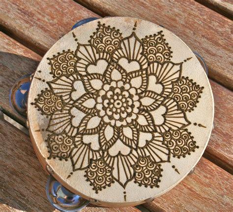 henna mandala tambourine