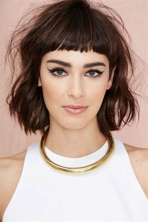 edgy long hairstyles with bangs edgy bobs with side bangs edgy bob with side swept bangs