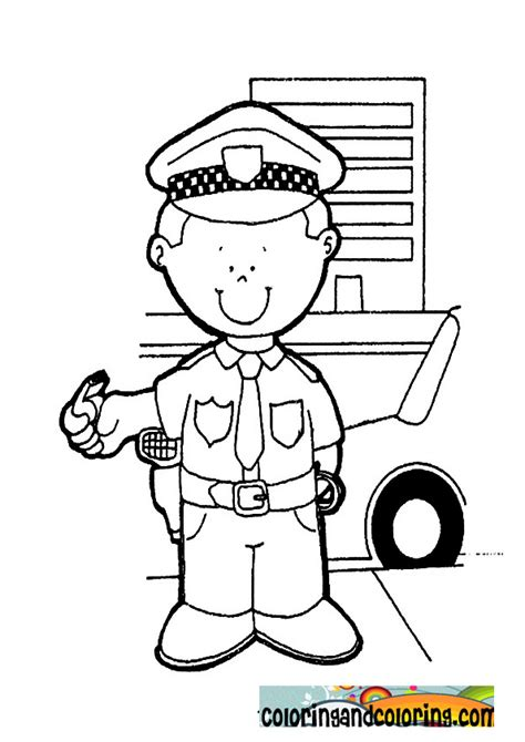 thank you coloring page for police officer free coloring pages