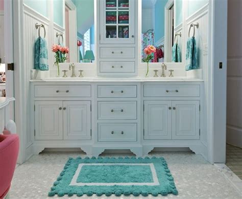 white and teal bathroom cute teal and white bathroom love this for kids adjoining bathroom for the home