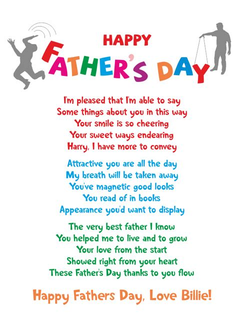 fathers day poems from fathers day poems