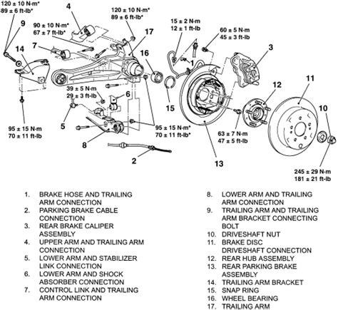 manual repair free 2004 mitsubishi endeavor parking system repair guides rear suspension wheel bearings autozone com