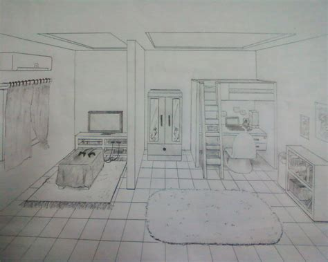 homework one point perspective room drawing one point perspective assignment dream room by clairetan
