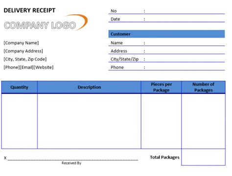 delivery receipt form template word 50 free receipt templates sales donation taxi