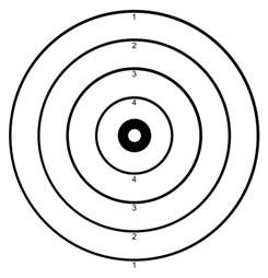 coloring book target printable targets for shooting clipart best