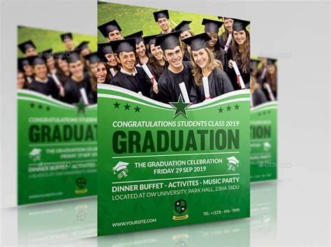 template flyer envato graduation flyer template by owpictures graphicriver