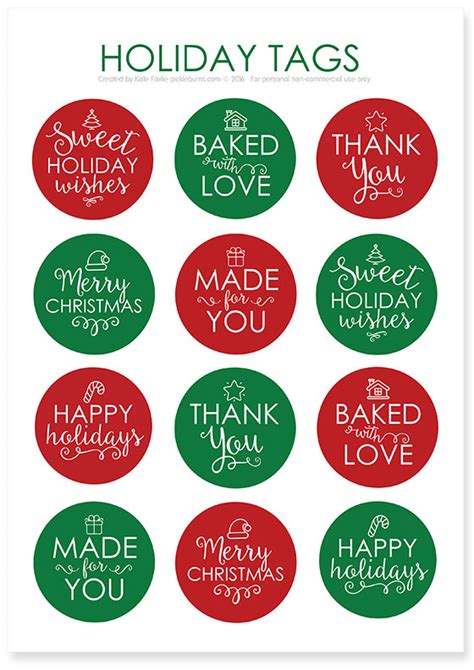 printable gift tags for cookies chocolate cherry cookies and printable holidays tags