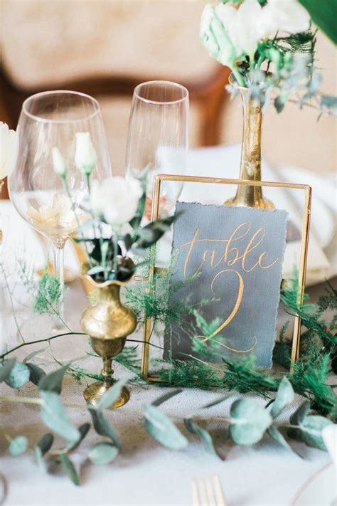 wedding table decorations inspiration trending 20 chic white and green wedding centerpiece ideas page 2 of 3 oh best day