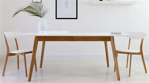 White And Oak Dining Table White Oak Table 8 Seater Extending Dining Table