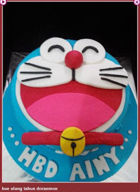 Setelan Doraemon 2 4 Tahun Lk63 gambar kue keren ulang tahun tema doraemon kumpulan gambar kue ultah