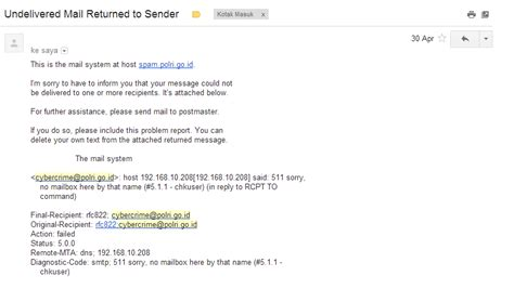 email polri polri dan media massa galau soal email cybercrime polri go
