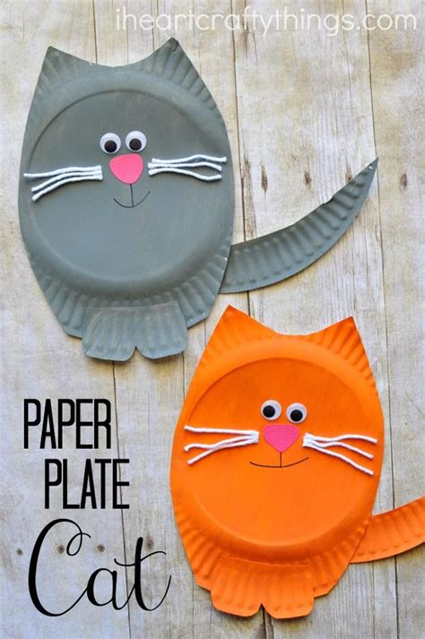 paper craft ideas for 5 paper plate cat craft cat crafts paper plate crafts and cat