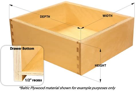 Standard Width Of Kitchen Cabinets Baltic Plywood Dovetail Drawer Boxes