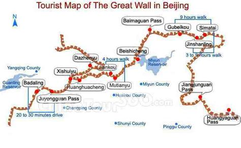 Great Wall Of China Map Outline by Visiting The Great Wall Tips For Independent Travelers And Choosing A Tour