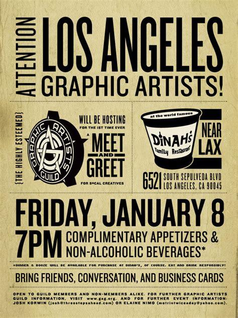 Graphic Artists Guild Meet Greet Flyer On Behance Meet And Greet Flyer Template