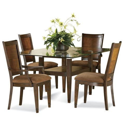 Dining Table With Different Chairs Glass Dining Room Table With Different Color Chairs Home Combo