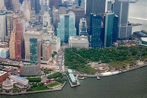 clinton section of manhattan battery park aerial
