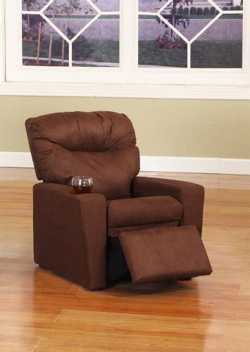 cheap recliners with cup holders dark brown microfiber childrens kids recliner chair with