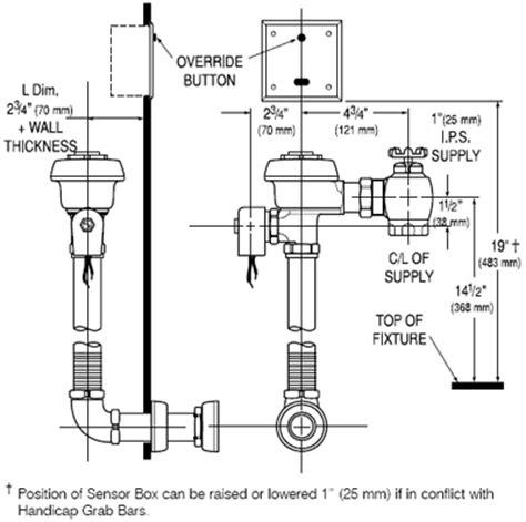 commercial toilet parts diagram commercial flush valves sensor activated electronic