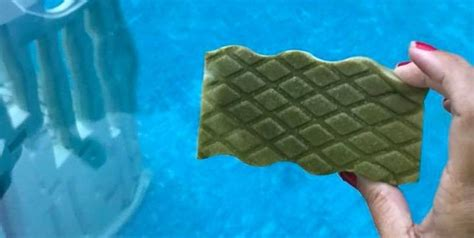 clean  green pool   magic eraser