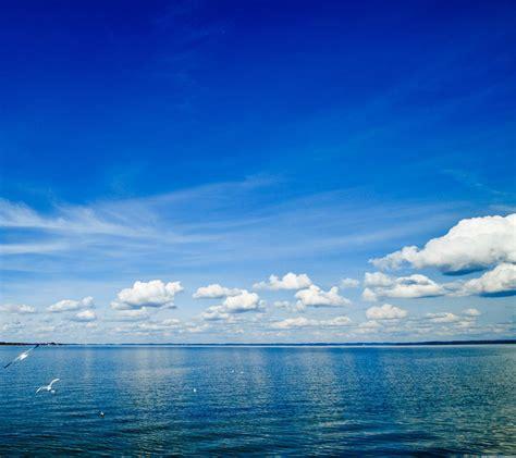 pemandangan langit biru laut wallpapersc android