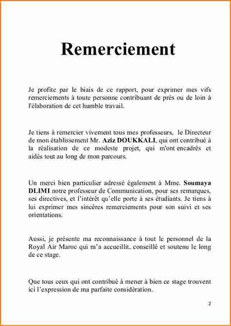Exemple Lettre De Remerciement Rapport De Stage 3eme 11 Lettre De Remerciement Rapport De Stage Exemple Lettres