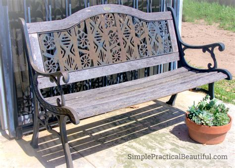 old park benches how to reinforce an old park bench simple practical beautiful