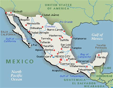map of western mexico mexico and the yucatan