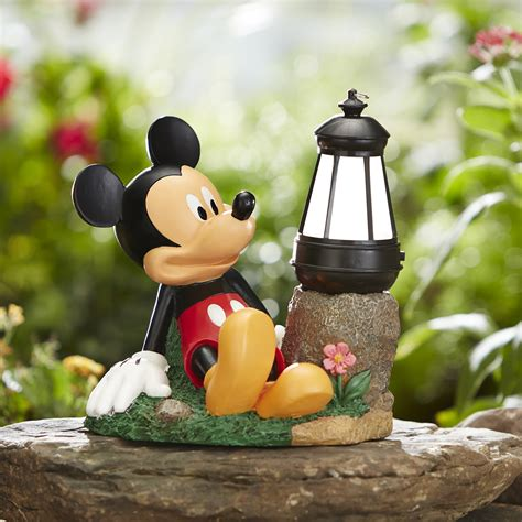 disney sitting disney characters w timer lanter mickey outdoor living outdoor decor lawn