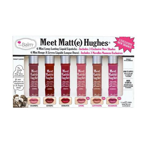 The Balm Meet Matte Hughes 6 Mini Liquid Lipstick Volume 3 The Balm Meet Matte Hughes 6 Mini Lasting Liquid