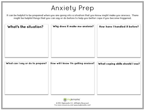 coping with anxiety worksheets coping with anxiety worksheets worksheets for all