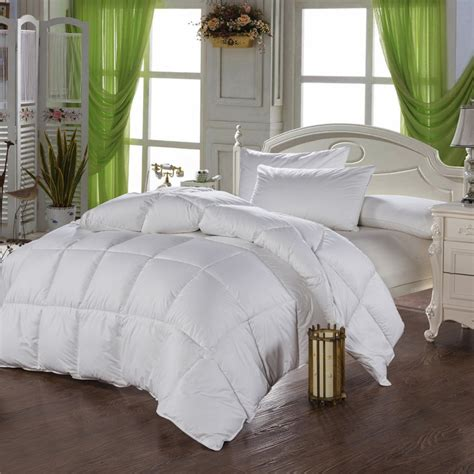 winter pure 100 cotton white duck down comforter set warm