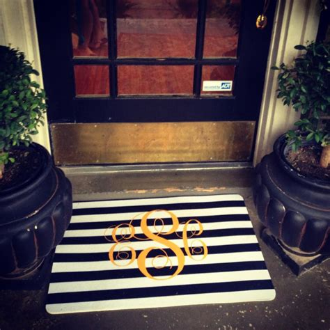 Monogram Front Door Mat Miss Em Prints