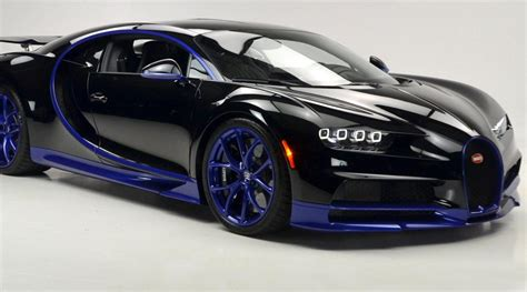 blue bugatti black and blue bugatti chiron lands in the u s carscoops