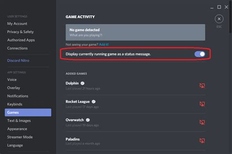 discord playing status custom how can i make discord not show what game i m playing