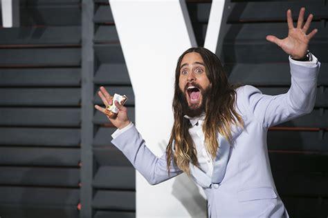 Jared Letos Strange Behavior At Sundance jared leto s photo behavior at vanity fair oscar