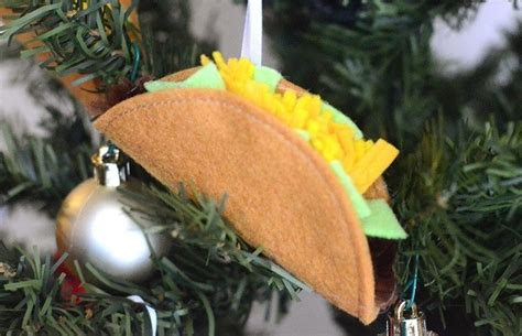 tutorial felt taco christmas ornament sewing