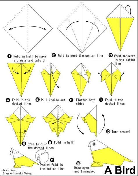 How To Make A Origami Bird - image detail for bird origami 171 embroidery