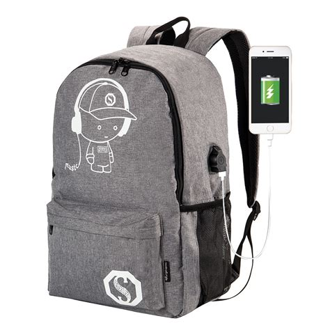 Ransel Anti Maling Shopee tas ransel casual dengan port charger usb anti maling